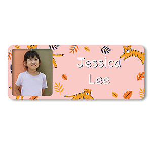 Medium Photo Name Label - Tigers