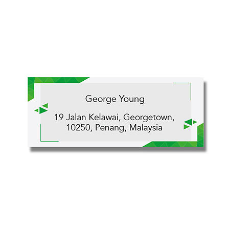 Address Label - Green & White